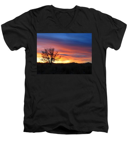 High Desert Sunset Men's V-Neck T-Shirt by Kevin Desrosiers