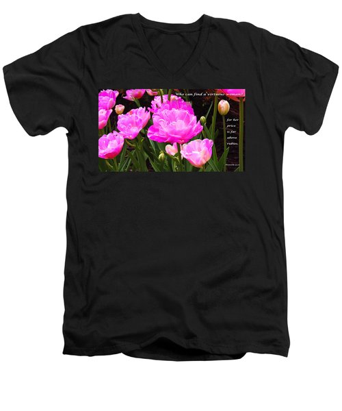 Highly Favored Men's V-Neck T-Shirt by Terry Wallace