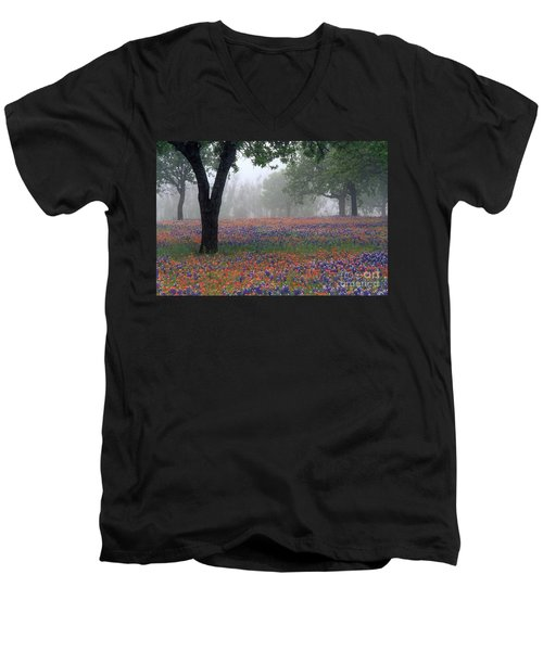 Hill Country - Fs000912 Men's V-Neck T-Shirt by Daniel Dempster