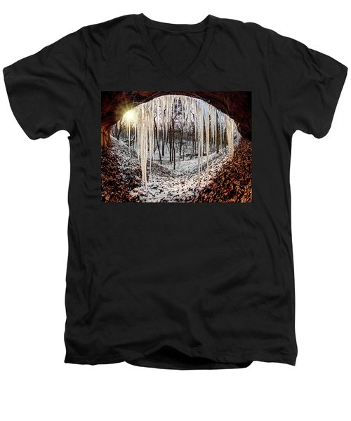 Hinding From Winter Men's V-Neck T-Shirt