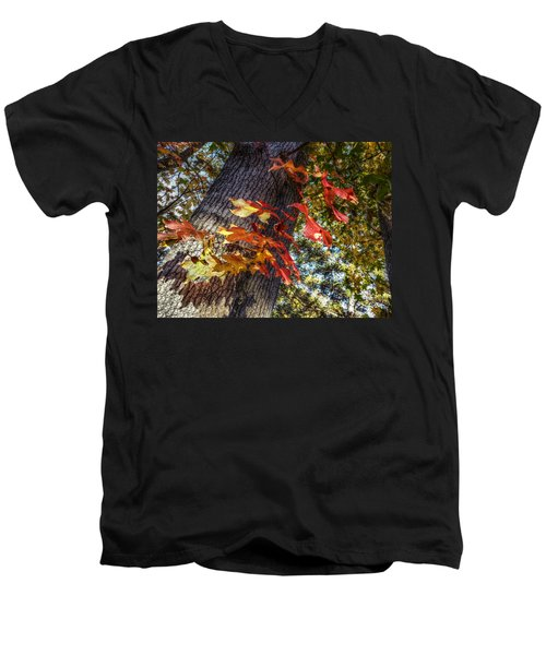 Hints Of Fall Men's V-Neck T-Shirt