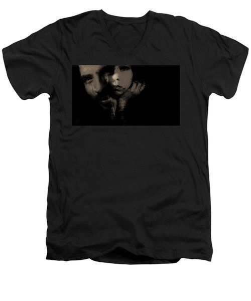 Men's V-Neck T-Shirt featuring the photograph His Amusement Her Content  by Jessica Shelton