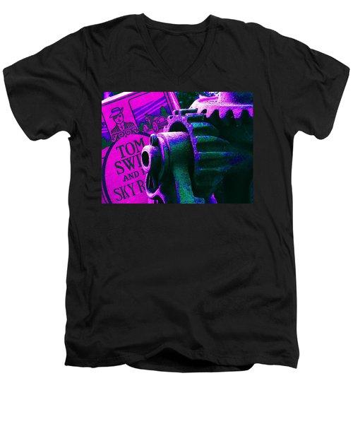 His Sky Racer... Men's V-Neck T-Shirt