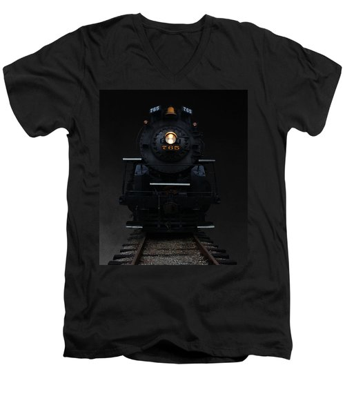 Historical 765 Steam Engine Men's V-Neck T-Shirt by Rowana Ray