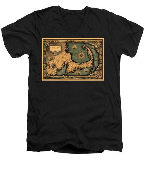 Historical Map Of Cape Cod Men's V-Neck T-Shirt
