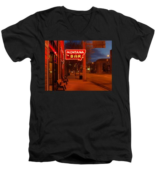 Historical Montana Bar Men's V-Neck T-Shirt