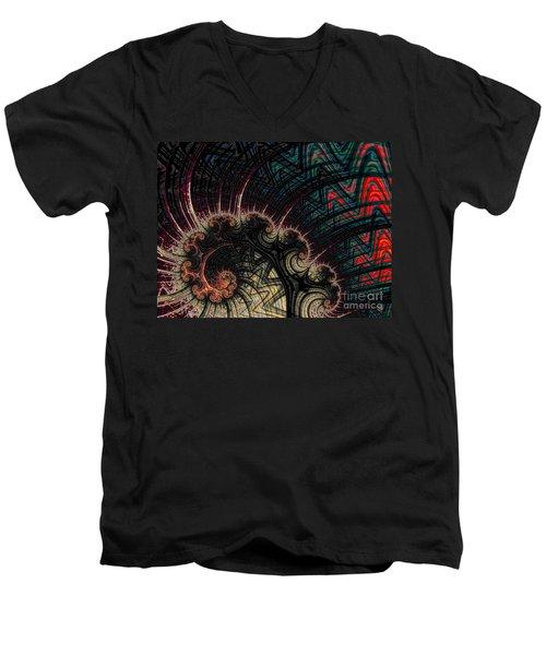 Hj-sw Men's V-Neck T-Shirt