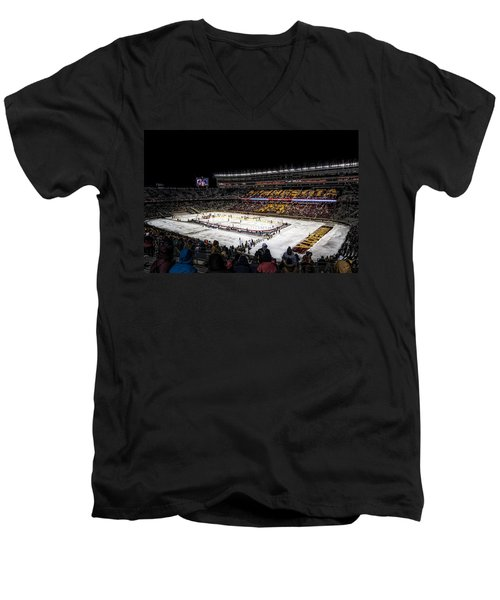 Hockey City Classic Men's V-Neck T-Shirt by Tom Gort