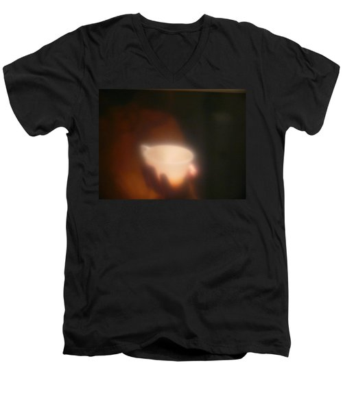 Men's V-Neck T-Shirt featuring the photograph Holding The Light by Evelyn Tambour