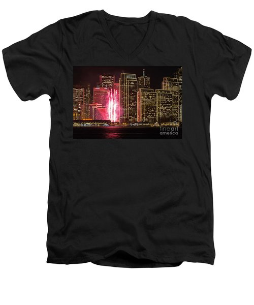 Holiday Lights Men's V-Neck T-Shirt