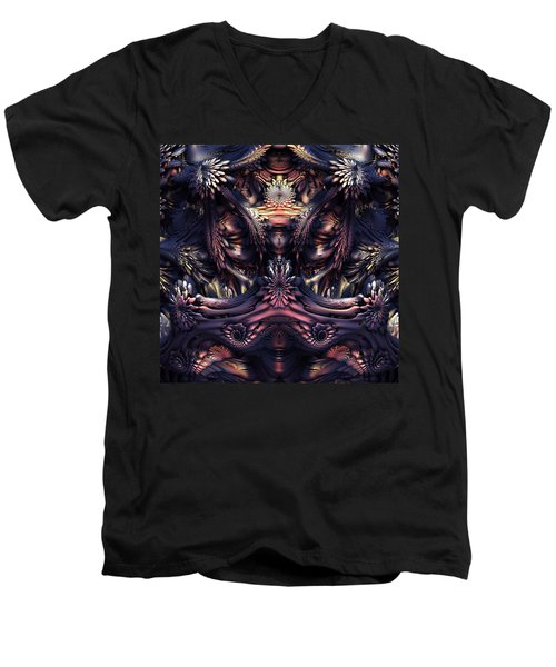 Homage To Giger Men's V-Neck T-Shirt