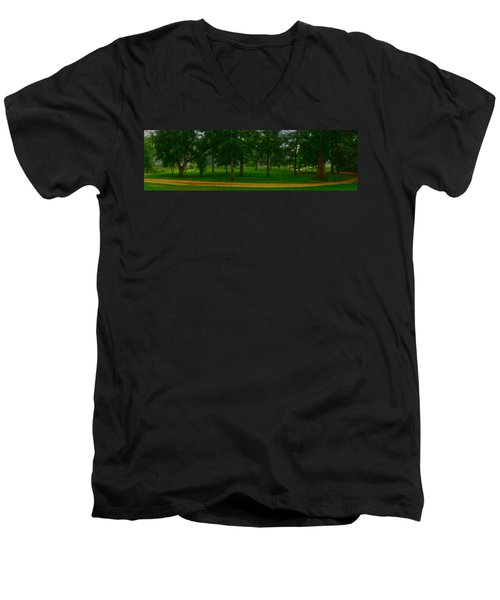Men's V-Neck T-Shirt featuring the photograph Home Circle II by Lanita Williams