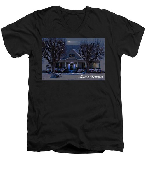 Men's V-Neck T-Shirt featuring the photograph Home For Christmas by Bonnie Willis