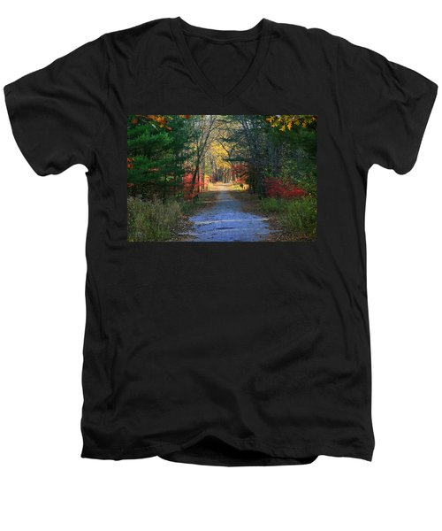 Men's V-Neck T-Shirt featuring the photograph Homeward Bound by Neal Eslinger