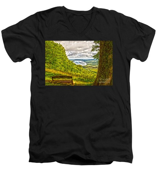 Honeoye Lake Overlook Men's V-Neck T-Shirt