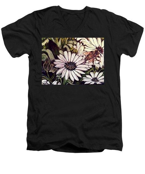 Honeybee Cruzing The Daisies Men's V-Neck T-Shirt