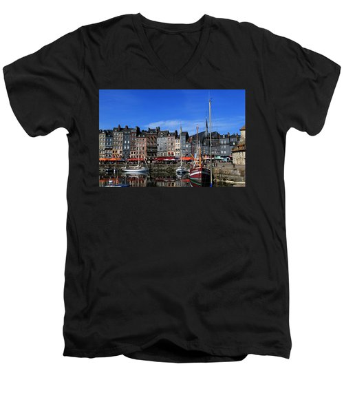 Honfleur France Men's V-Neck T-Shirt