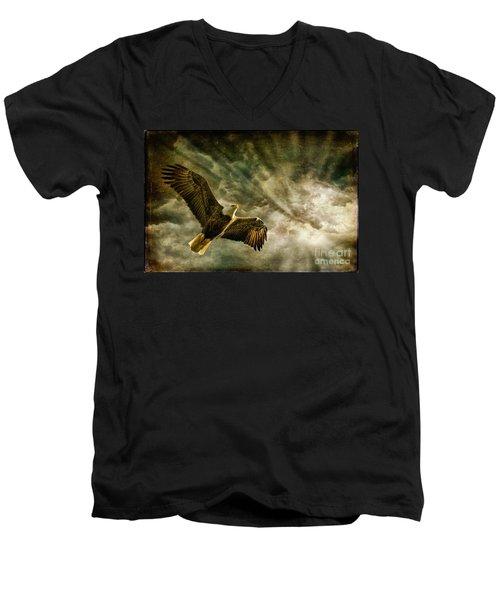 Honor Bound In Blue Men's V-Neck T-Shirt