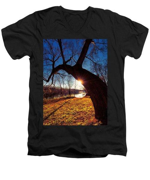 Men's V-Neck T-Shirt featuring the photograph Hook Or Crook by Robert McCubbin