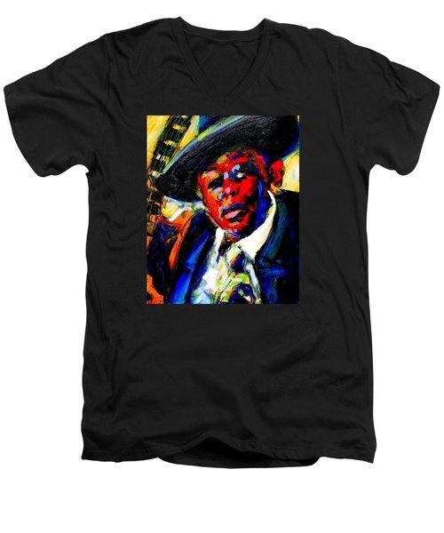 Hooker Men's V-Neck T-Shirt by Les Leffingwell