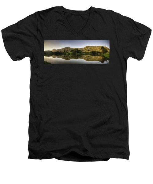 Hoomaluhia Sunrise Men's V-Neck T-Shirt