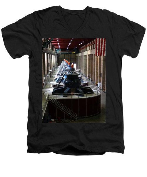 Hoover Dam Generator Room Men's V-Neck T-Shirt