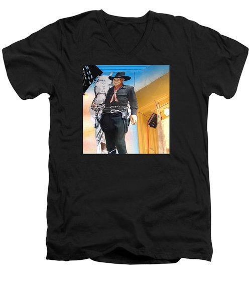 Hopalong Cassidy Cardboard Cut-out Tombstone Arizona 2004 Men's V-Neck T-Shirt