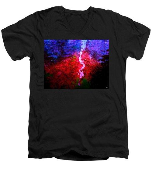 Men's V-Neck T-Shirt featuring the digital art Hope For A Broken Heart - Healing Art by Absinthe Art By Michelle LeAnn Scott