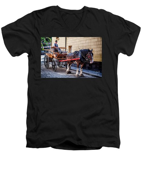 Horse And Cart Men's V-Neck T-Shirt