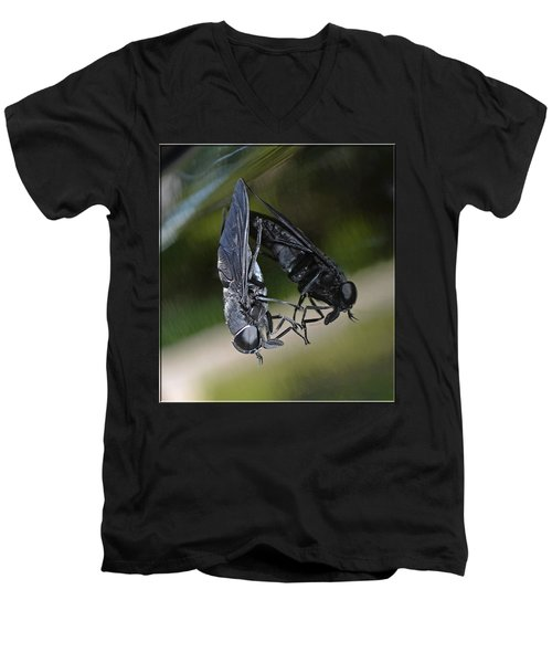 Men's V-Neck T-Shirt featuring the photograph Horse Fly by DigiArt Diaries by Vicky B Fuller