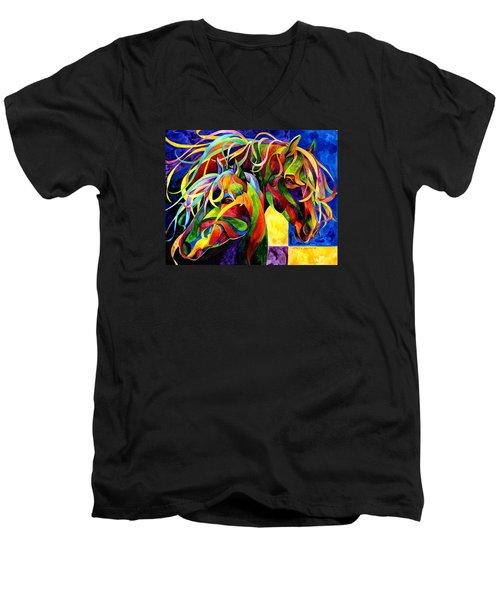 Horse Hues Men's V-Neck T-Shirt
