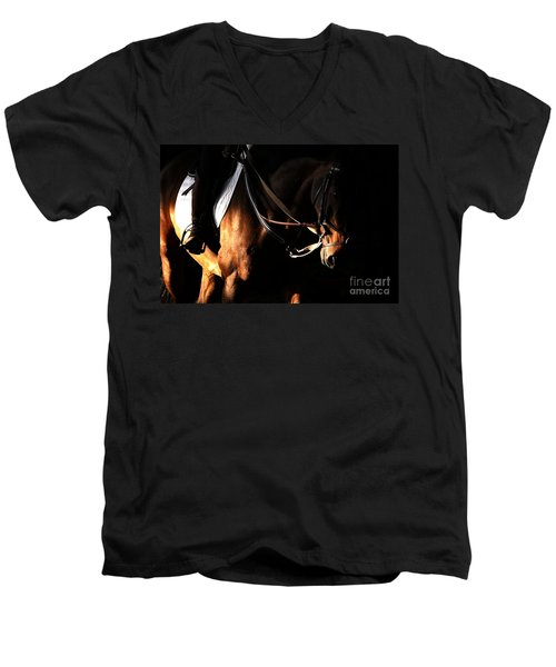 Horse In The Shade Men's V-Neck T-Shirt