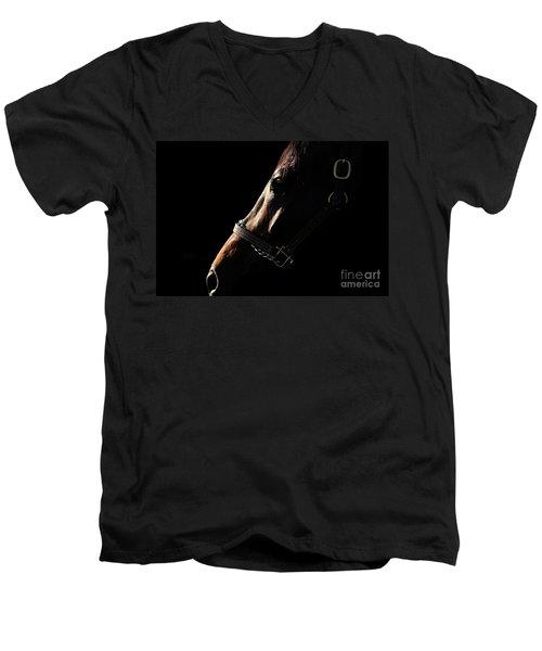 Horse In The Shadows Men's V-Neck T-Shirt