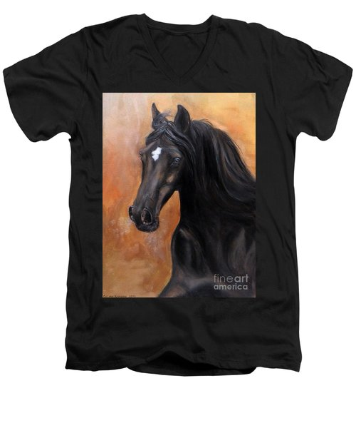 Horse - Lucky Star Men's V-Neck T-Shirt