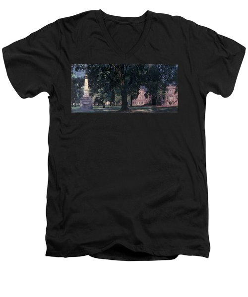 Horseshoe At University Of South Carolina Mural Men's V-Neck T-Shirt