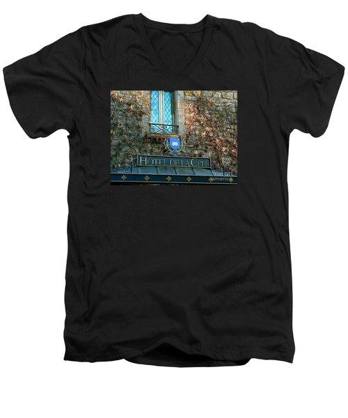 Hotel De La Cite Men's V-Neck T-Shirt by France  Art