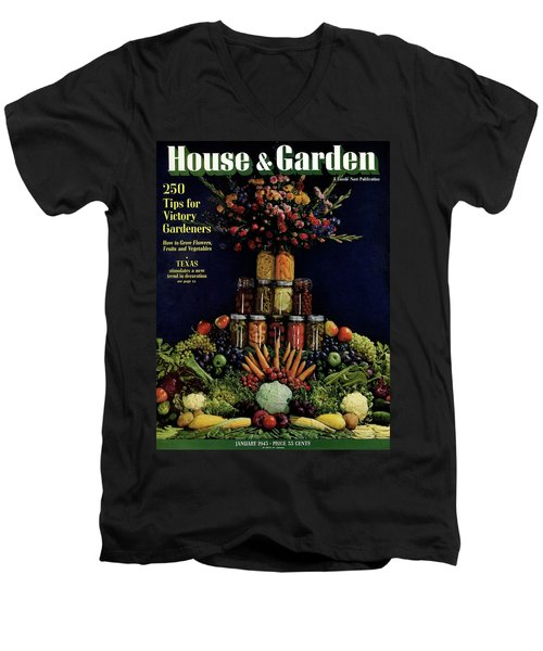 House And Garden Cover Featuring Fruit Men's V-Neck T-Shirt