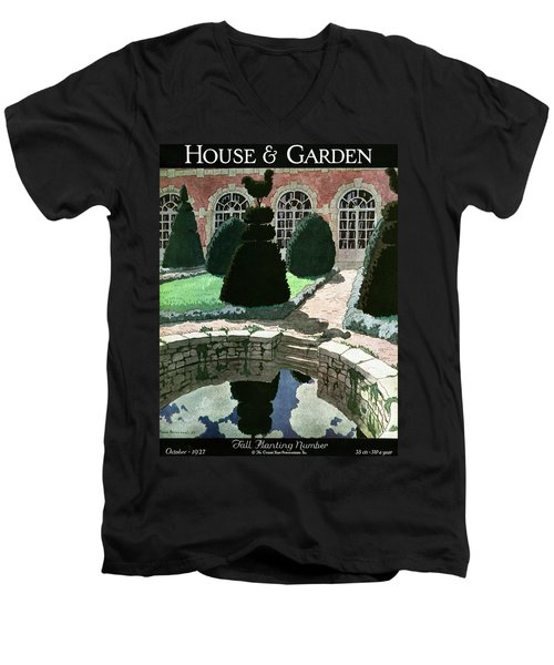 House And Garden Fall Planting Number Cover Men's V-Neck T-Shirt