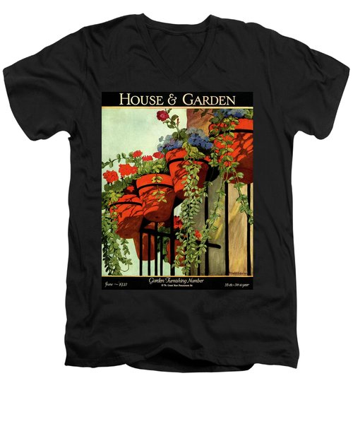 House And Garden Garden Furnishing Number Cover Men's V-Neck T-Shirt