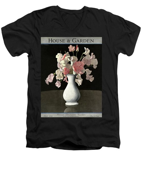 House And Garden Interior Decoration Number Men's V-Neck T-Shirt