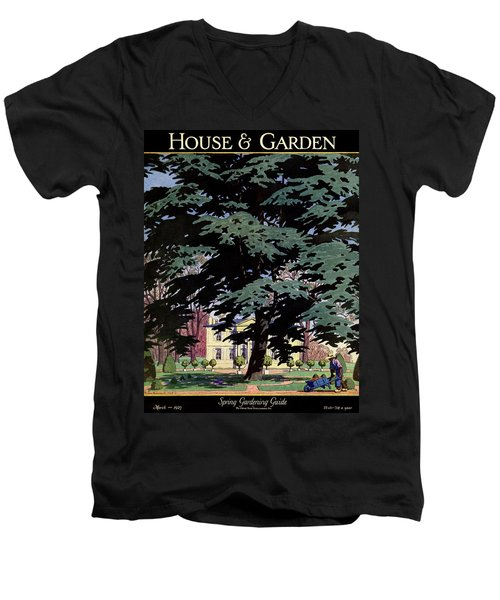 House And Garden Spring Gardening Guide Cover Men's V-Neck T-Shirt