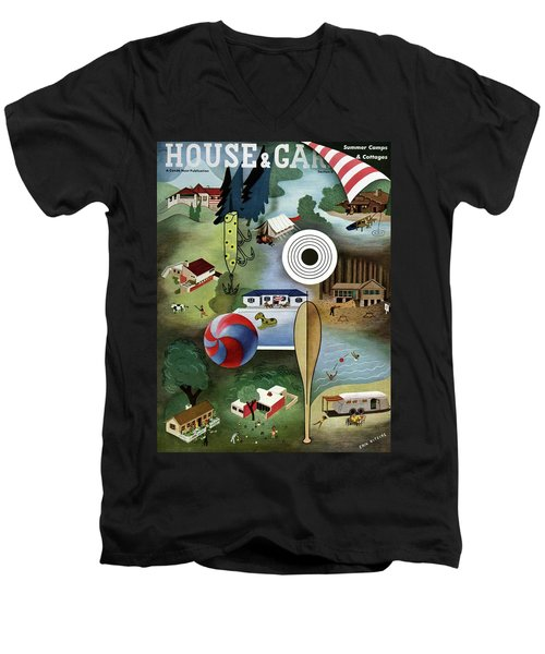 House And Garden Summer Camps And Cottages Cover Men's V-Neck T-Shirt