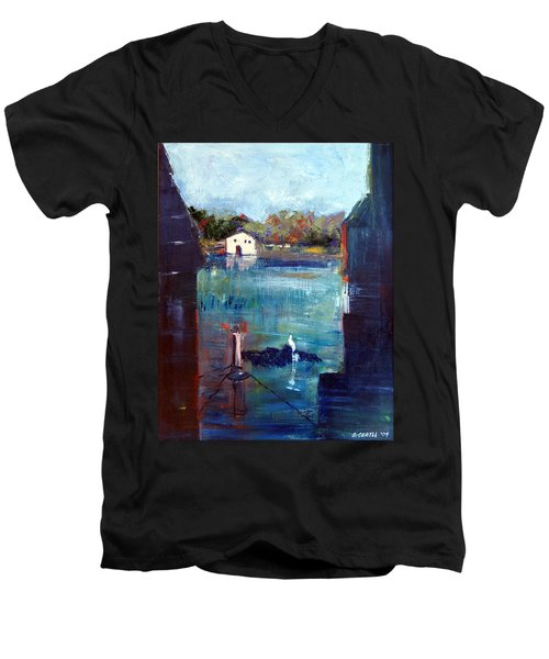 Houseboat Shadows Men's V-Neck T-Shirt