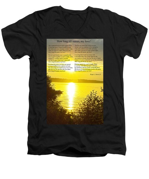 How Long Till Sunset Men's V-Neck T-Shirt by Tikvah's Hope