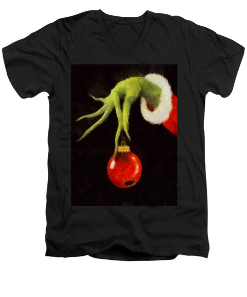 How The Grinch Stole Christmas Men's V-Neck T-Shirt by Dan Sproul