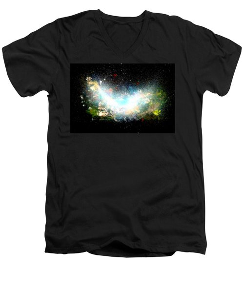 Hubble Birth Of A Galaxy Men's V-Neck T-Shirt