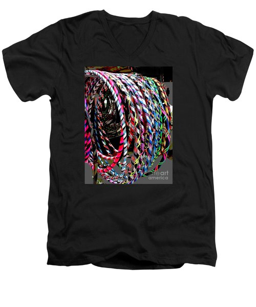 Huly Hoops Men's V-Neck T-Shirt by The Art of Alice Terrill