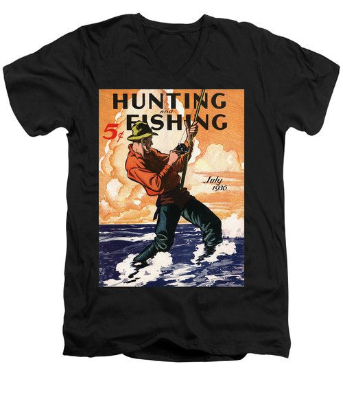 Hunting And Fishing Men's V-Neck T-Shirt