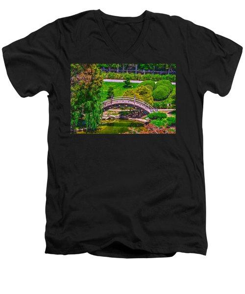 Huntington Library Ca Men's V-Neck T-Shirt by Richard J Cassato