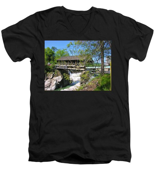 Men's V-Neck T-Shirt featuring the photograph Hurricane Irenes Destruction by Sherman Perry